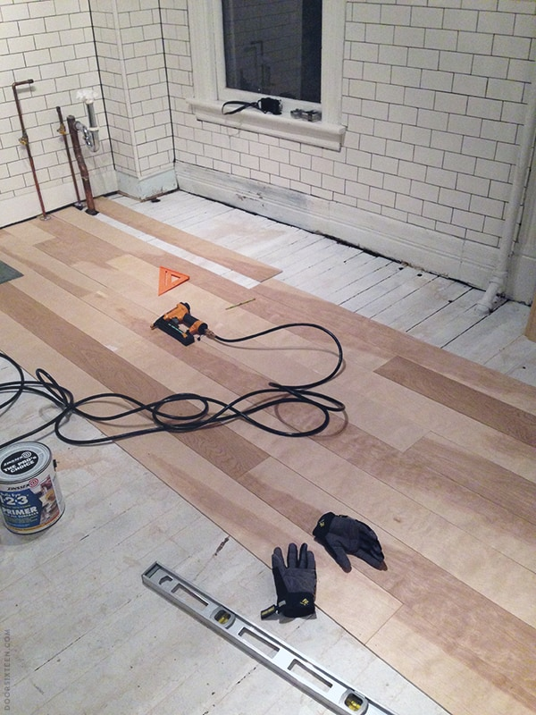 Installing A Plywood Plank Kitchen Floor Part One Door