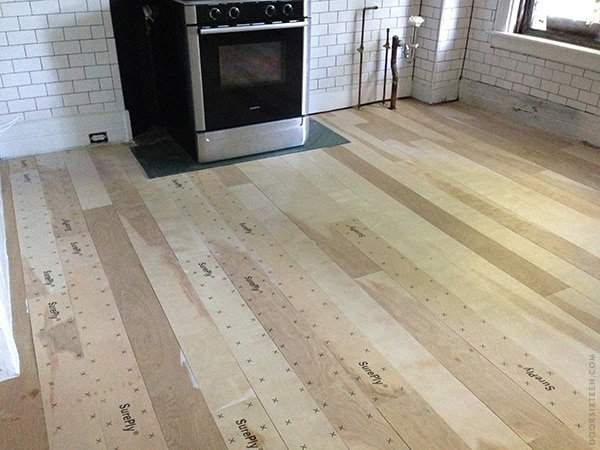 Plywood Sheet Flooring ~ Installing a plywood plank kitchen floor part one door