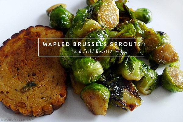 Celebration Roast with Brussels sprouts