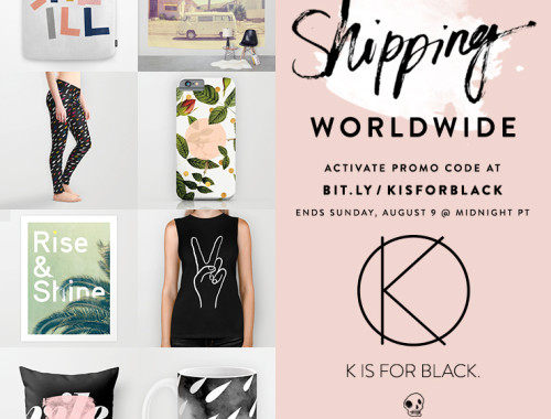 K IS FOR BLACK free shipping - doorsixteen.com