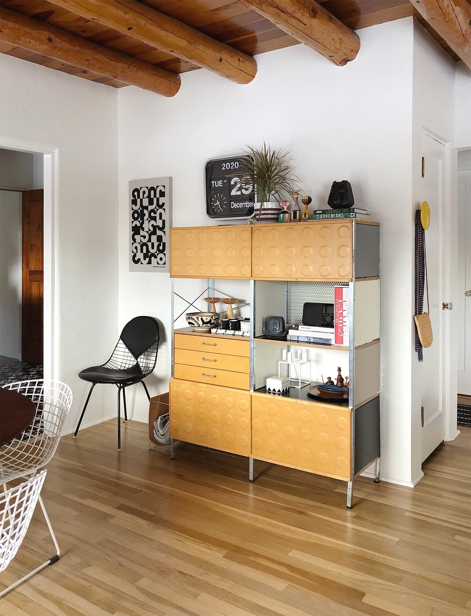 Eames Storage Unit in dining room